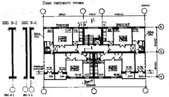 план типового этажа серии 87-081. фото