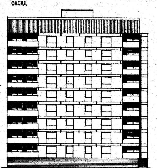 фасад и разрез проект 87-084.фото