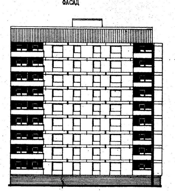 Дома серии 87, проект 87-085.фасад