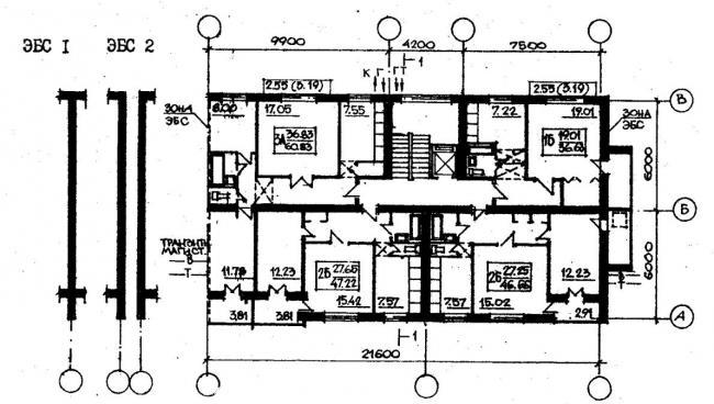 Дома серии 87, проект 87-085.план