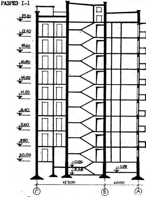 дома серии 87, проект 87- угловая.разрез