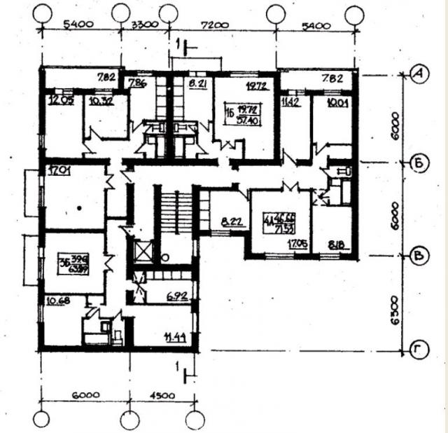 план типового этажа серии 87-угловая. фото