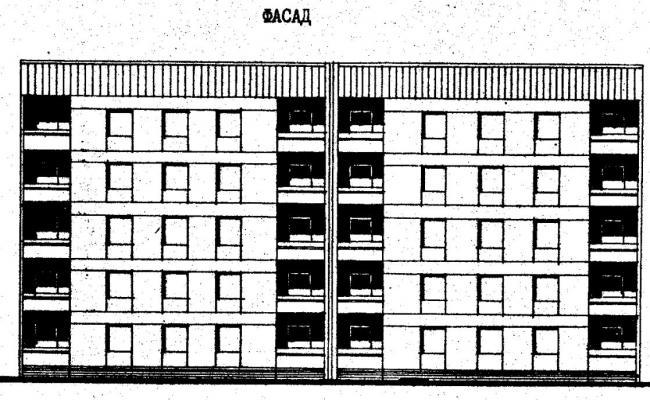 Дома серии 87, проект 87-0101.фасад