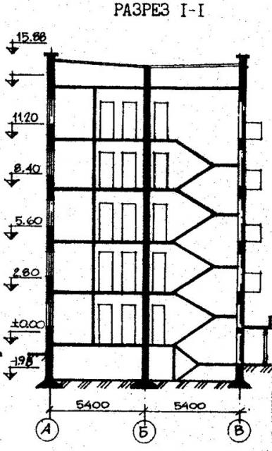 Дома серии 87, проект 87-0101.разрез