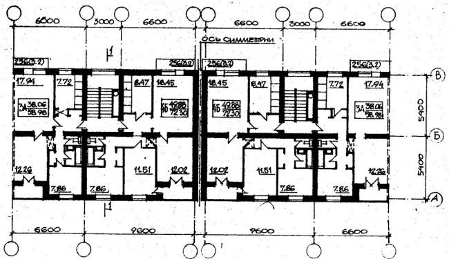 план типового этажа серии 87-0101. фото