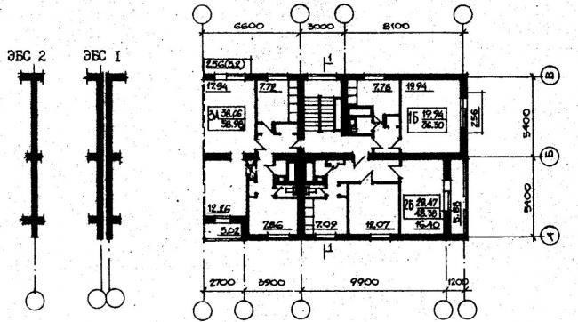 план типового этажа серии 87-0102. фото
