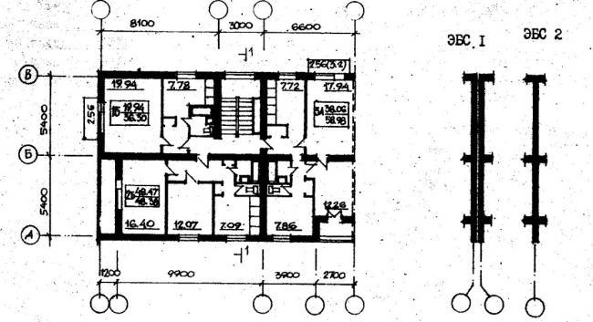 план типового этажа серии 87-0103. фото