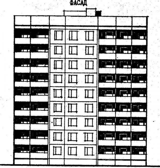 Дома серии 96, проект 96-030/1.2.фасад