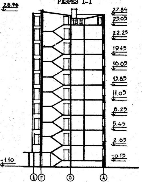 Дома серии 96, проект 96-030/1.2.разрез