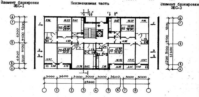 план типового этажа серии  96-030/1.2. фото