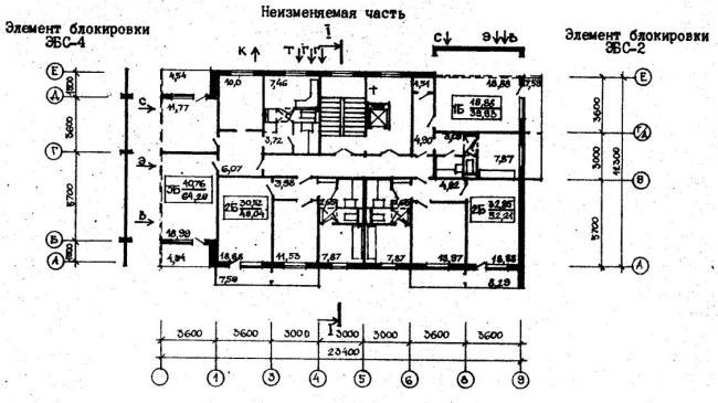 план типового этажа серии  96-033/75/1.2. фото