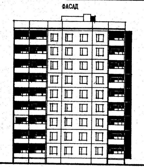 Дома серии 96. проект 96-034/1.2.фасад