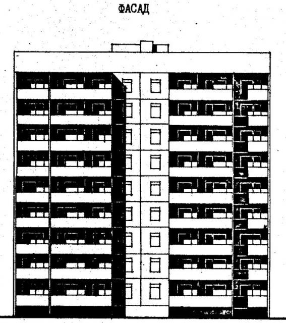 Дома серии 96. проект 96-036.2.фасад