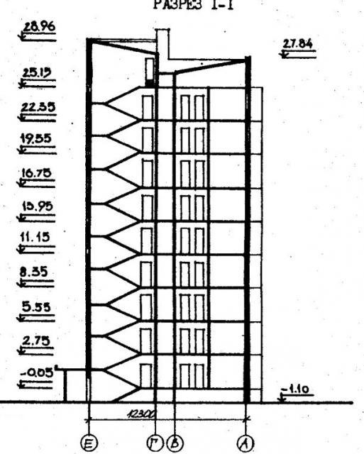 Дома серии 96. проект 96-036.2.разрез