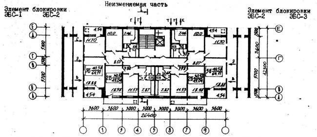 план типового этажа серии 96-036.2. фото