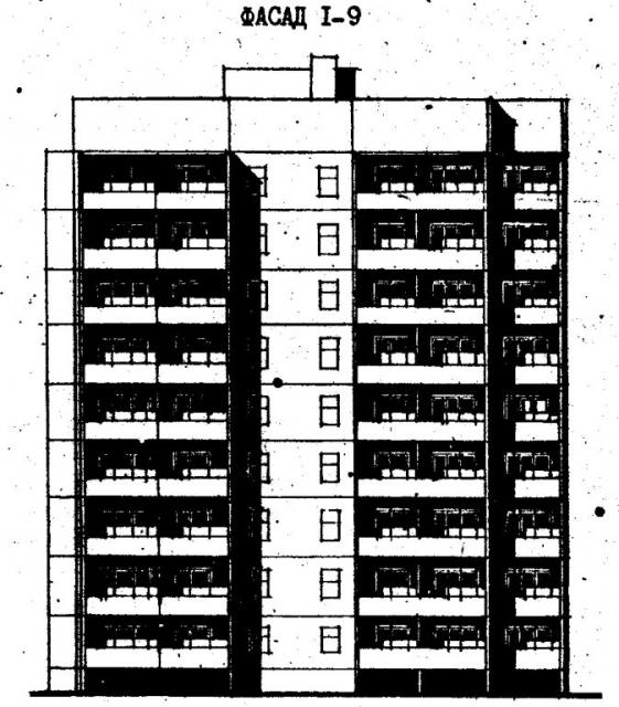 Дома серии 96. проект 96-054.83.фасад