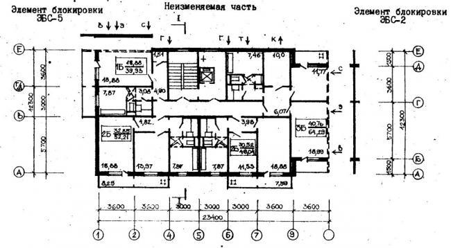 план типового этажа серии  96-054.83. фото