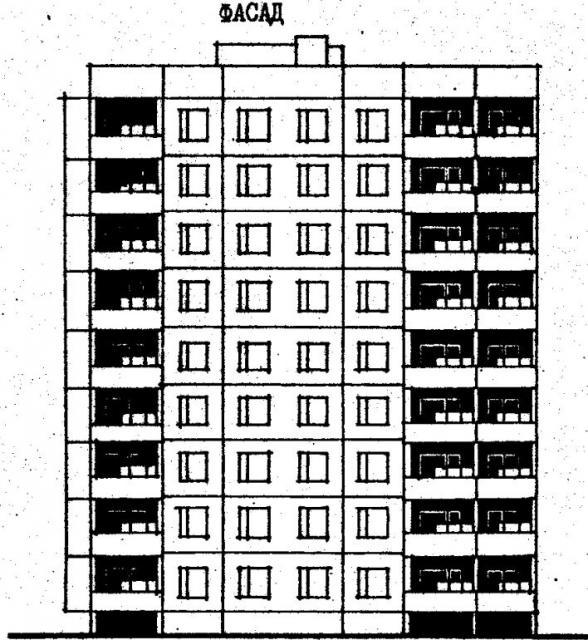 Дома серии 96. проект 96-056.83.фасад