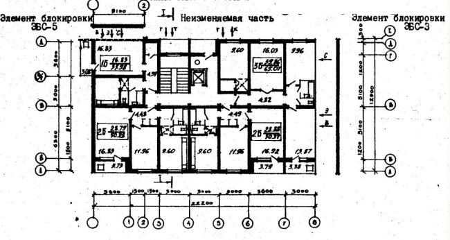 план типового этажа серии 96-056.83. фото