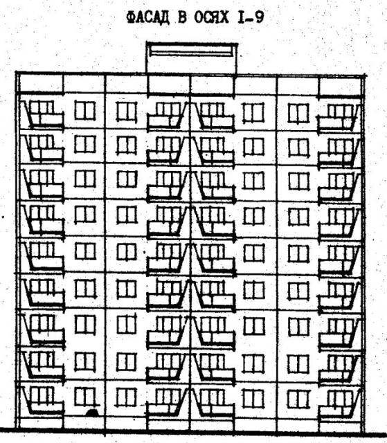 Дома серии 480А проект 065УМ/1.2.фасад