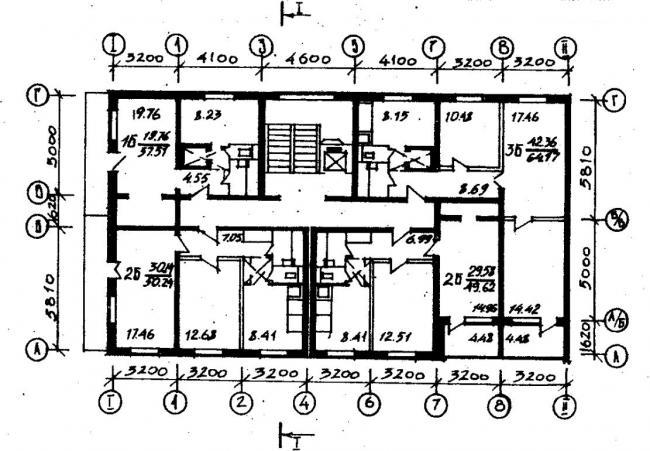 план типового этажа серии 066/1.2. фото