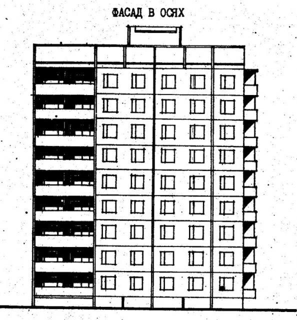 Дома серии 480А проект 067/1.2.фасад