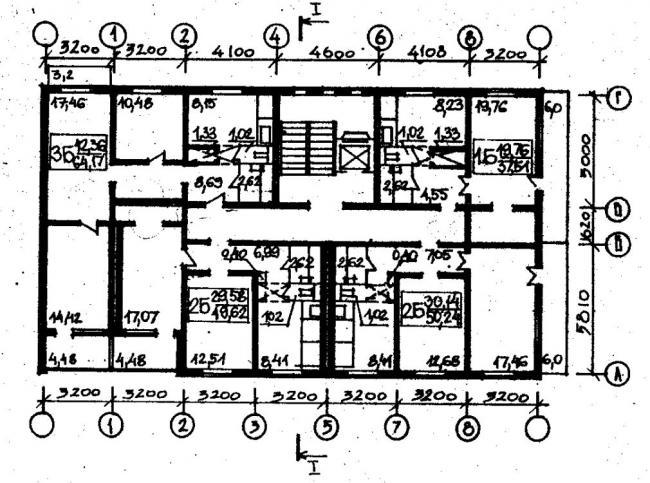 план типового этажа серии 067/1.2. фото
