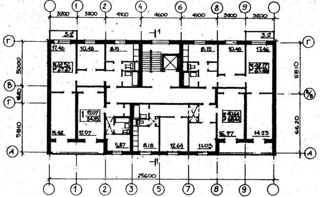 план типового этажа серии 065/1.2-3. фото