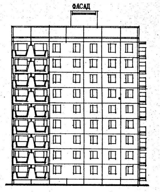 Дома серии 480А проект 067/1.2-3.фасад