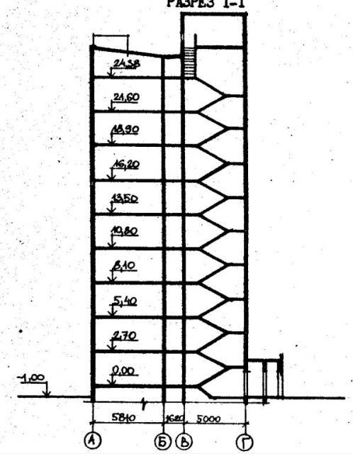 Дома серии 480А проект 067/1.2-3.разрез