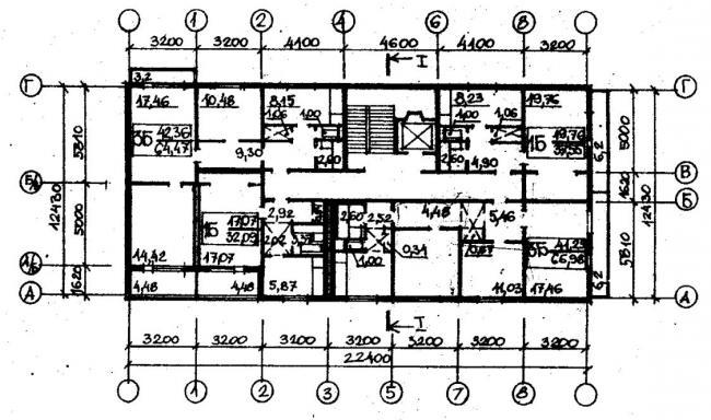 план типового этажа серии 067/1.2-3. фото