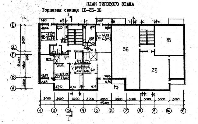 план типового этажа серии 77.83. фото