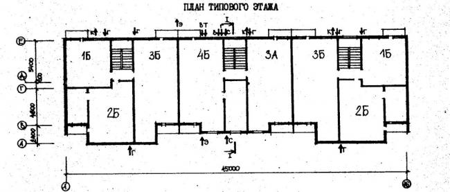план типового этажа серии 78.83. фото