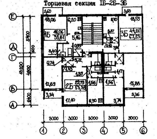 план секций рядовой и торцевой проект 78.83.фото