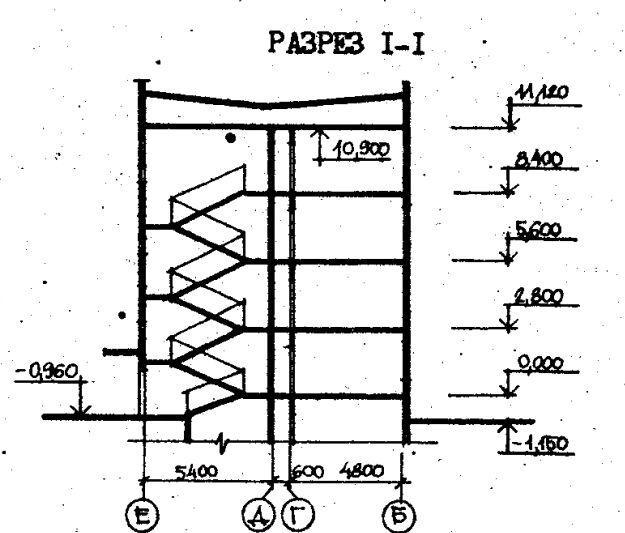Дома серии 111-26. проект 79.83.разрез
