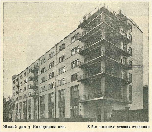 Конструктивисткий рабочий посёлок - ул. Короленко - Колодезная улица ( ВАО Москва )