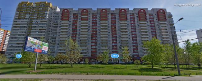 Мичуринский проспект, дом 21 к1 (отр.адм.) Не могу найти серию этого дома