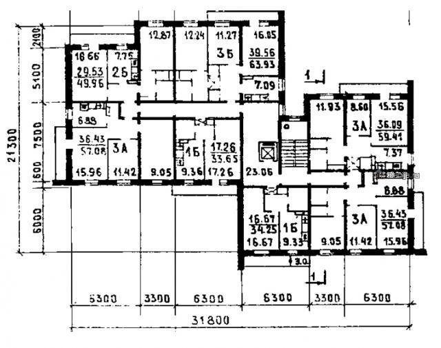 планировки квартир 81 серии ( проект 113-81-11/1.2 )