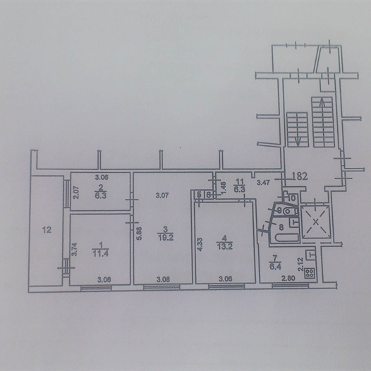 предп. планировка четырехкомнатной квариры в 1Р-303-9