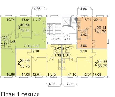 планировки квартир 121М-2000