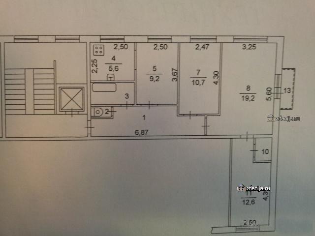 Планировка четырёхкомнатной квартиры 1ЛГ-504Д