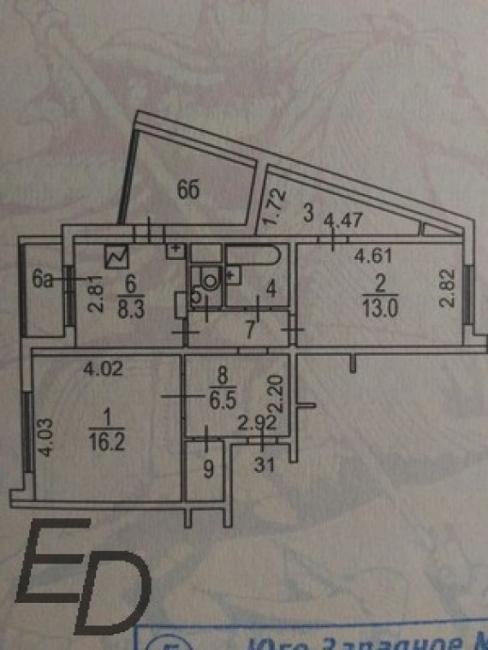 ИП-46М ( ул изюмская 49 корп 3 Москва, планировки квартир, отр.адм. ) серия дома