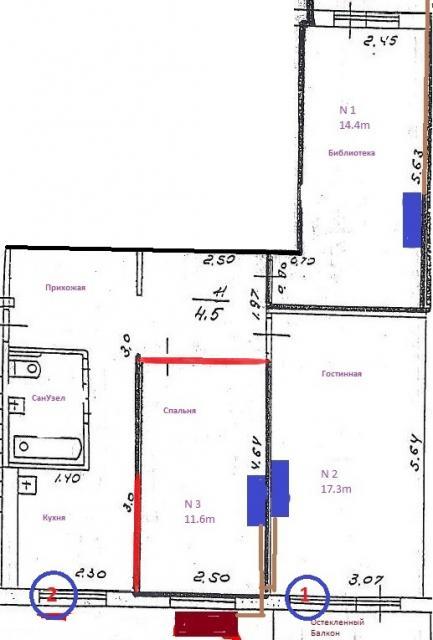 План квартиры БТИ