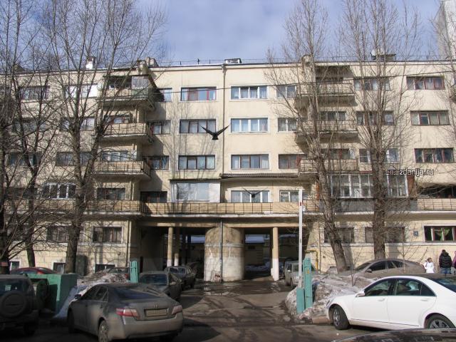 конструктивистский дом по адресу Москва, Большой Девятинский переулок, дом 4.