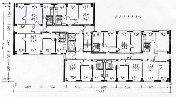 Планировки квартир 1-МГ-601-Ж