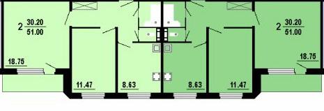 Планировки двушек в домах серии 101
