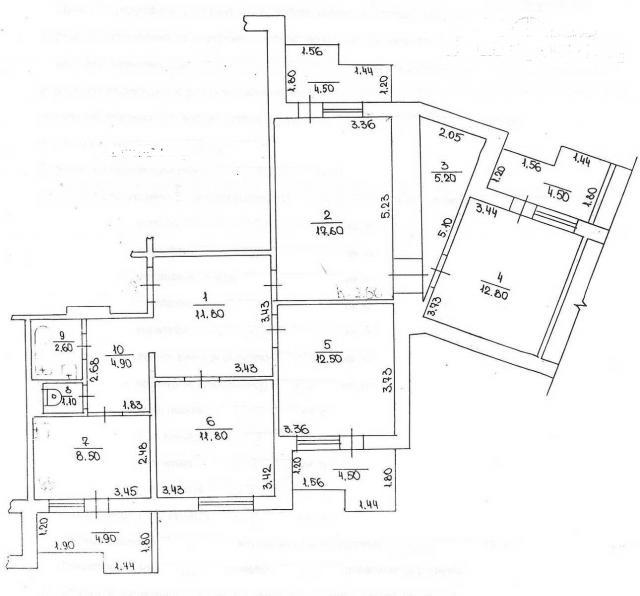 4-х комнатная над аркой до перепланировки