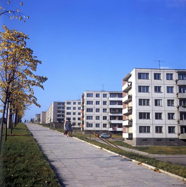 Микрорайон Жирмунай в Вильнюсе, 1969 год.