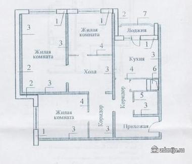 Планировки трёхкомнатных квартир
