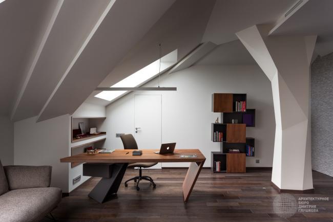 Варианты дизайна рабочего кабинета в загородных коттеджах